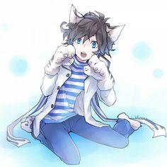 Devil Survivor 2 The Animation Chibi Anime, Anime Art, Cute Anime Boy, Anime Guys, Neko Boy, Wattpad, Lorde, Favim, Animation
