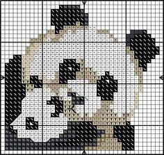 Panda with cub X-stitch chart Cross Stitch Cards, Cross Stitch Baby, Cross Stitch Animals, Cross Stitching, Cross Stitch Embroidery, Embroidery Patterns, Cross Stitch Designs, Cross Stitch Patterns, Pixel Crochet