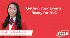In this week's INSIDE the Red Jacket Blog, Stephanie Zhang, VP of Competitive Events, gives tips on how to prepare for your events at NLC. Check out the latest blog here: http://fcclainc.org/blog/inside-getting-your-events-ready-for-nlc/