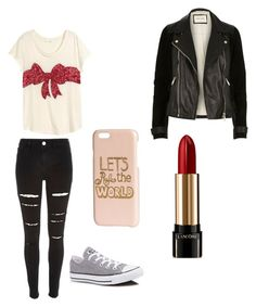 """Untitled #5"" by preethi-eaga on Polyvore featuring River Island, Converse, H&M and Lancôme"