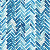 Blue herringbone watercolor by mrshervi