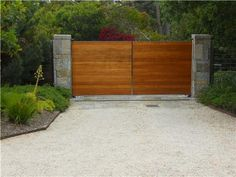 Driveway Gate Gates and Fencing Landscaping Network Calimesa ... & Sliding Driveway Gate. Contemporary style driveway gates made from ...