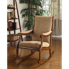 Furniture of America Antique Oak Rocking Chair