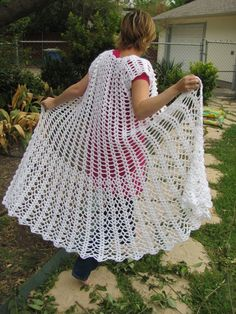 Wedding Duster Pure White Lace by CraftRabbits on Etsy, $99.00