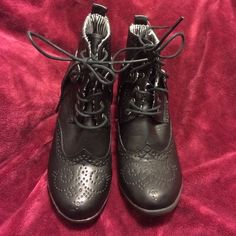 Black booties, Shiekh with laces size 6.5 Black  booties with laces, size 6.5 in good condition. Brand name is Shiekh Shiekh Shoes Ankle Boots & Booties