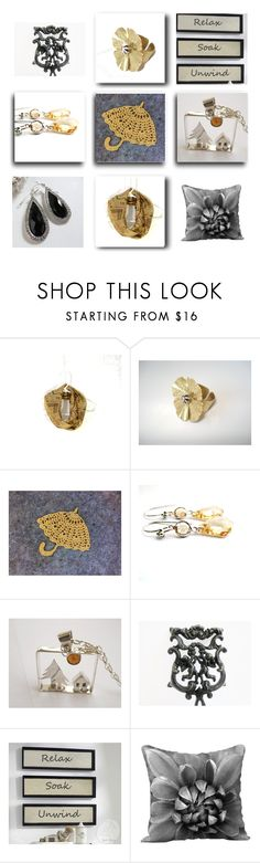 """""""Golden"""" by fibernique ❤ liked on Polyvore featuring Wilton and vintage"""