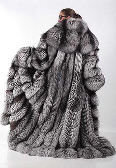 Fur Fox Coat Amazing #silverfox #furonline #furfashion