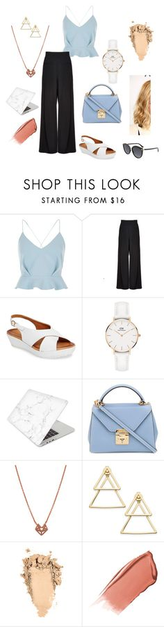 """""""Spring outfit"""" by emese-vincze on Polyvore featuring River Island, Alice + Olivia, Sesto Meucci, Daniel Wellington, Recover, Mark Cross, INC International Concepts, Hourglass Cosmetics and Christian Dior"""