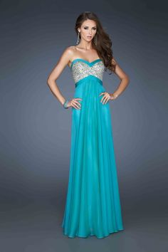 Such a pretty color and dress by @La Femme Fashion Prom #prom2014 #love
