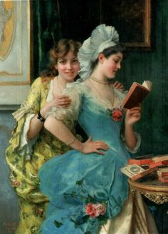 The Sisters. Federico Andreotti (Italian, Academic, 1847-1930). Oil on canvas.