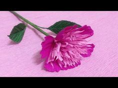 How to Make Dianthus Crepe Paper Flowers - Flower Making of Crepe Paper - Paper Flower Tutorial - YouTube