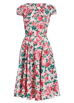Light Pink Flower Garden Party 50s Pin Up Retro Vintage Dress - Size Medium Pretty Attitude http://www.amazon.com/dp/B00KVI8CPG/ref=cm_sw_r_pi_dp_6WA5tb07MB06D