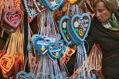 Strings of lebkuchen (gingerbread necklaces) make perfect Oktoberfest souvenirs ~ frommers.com