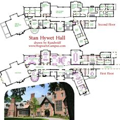 "STAN HYWET HALL - Akron, Ohio  Here's my favorite American mansion.  ""Stan Hywet Hall"" at just over 64,500 square feet, is located in Akron Ohio.  I love its Tudor style, and English country estate atmosphere.  There's an indoor swimming pool beneath the billiards and study, and a bowling alley and gymnasium under the music room!  The third floor attic has a musicians room, a sewing room, another guest suite, and more servant rooms.  The stair tower has an office on the third floor, and an…"
