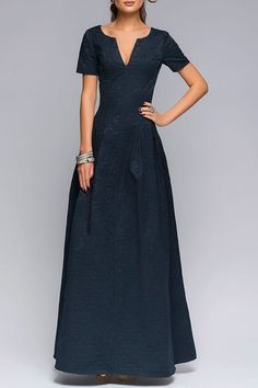 I don't know abt the quality but this sure is pretty !      Short Sleeve Fit and Flare Prom Dress