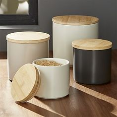 Crate&Barrel: Silo Canisters