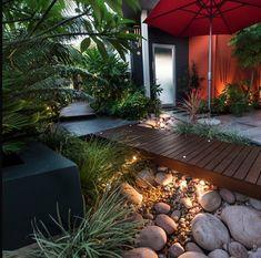 Rain Garden under walkway