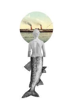 Los collages decadentes de Marisa Maestre Collage Illustration, Graphic Design Illustration, Graphic Art, Collages, Montage Art, Surrealist Collage, Plakat Design, Collage Design, Sad Art