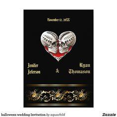 "halloween wedding Invitation 5"" X 7"" Invitation Card"
