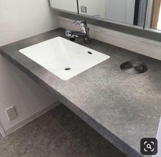 造作洗面台について2 アイカスタイリッシュカウンター | ため城 Laundry In Bathroom, Washroom, Sink, Vanity, Flooring, Interior, House, Home Decor, Instagram