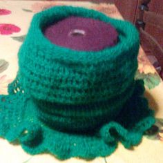 Scaldacollo verde di lana molto lungo