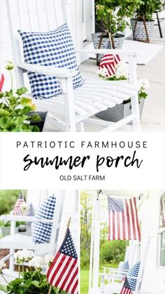 Farmhouse Style Decorating, Porch Decorating, Farmhouse Decor, Farmhouse Ideas, White String Lights, String Lights Outdoor, 4th Of July Celebration, Fourth Of July, Utah