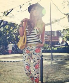 DIY Womens Clothing : Stripes and floral
