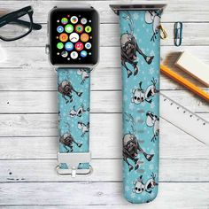 Olaf and Sven Disney Frozen Custom Apple Watch Band Leather Strap Wrist Band Replacement 38mm 42mm