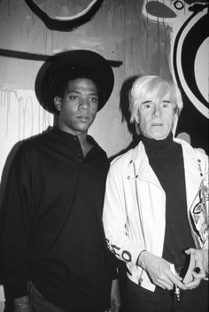 Jean-Michel Basquiat and Andy Warhol   From a unique collection of black and white photography at https://www.1stdibs.com/art/photography/black-white-photography/