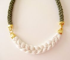 rope necklace - statement necklace in natural colors - customizable necklace - gift for her under 40