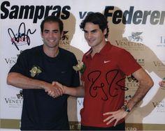 ROGER FEDERER & PETE SAMPRAS Autographed Hand Signed TENNIS 8 X 10 Photo