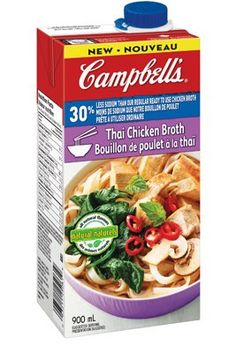 Campbell's® 30% Less Sodium Ready To Use Thai Chicken Broth