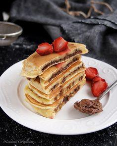 Nastoletnie Wypiekanie: Śmietankowe pancakes z czekoladą w środku