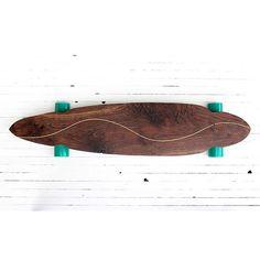 Handcrafted Walnut Longboard 'BRAVERY' by PNWmaker on Etsy