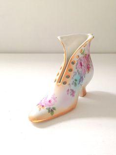 Vintage R & S Porcelain Victorian Shoe / Boot by MariasFarmhouse