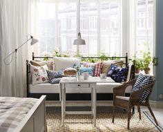 SVELVIK bedframe | #IKEA #bedbank #slaapbank #woonkamer #bank