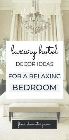 USE THESE TIPS FOR A RELAXING BEDROOM INSPIRED BY LUXURY HOTELS Beautiful Interior Design, Interior Design Tips, Interior Design Inspiration, Diy Design, Design Ideas, French Style Decor, Parisian Style, Guest Bedroom Decor, Bedroom Ideas