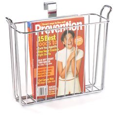 Reading materials are kept neat and organized in the bathroom with our Classico Overtank Magazine Holder.