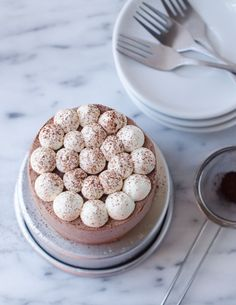 mini mocha layer cake