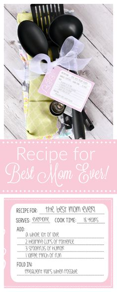 Mother's Day Gift Idea-Recipe for The Best Mom - Fun-Squared