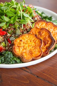 Adzuki Bean & Quinoa Tabbouleh Salad with a side of sweet potato, we'll be seeing you soon (in our bellies, of course).