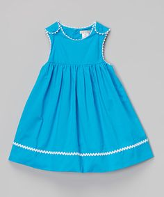 Loving this Turquoise Twill Pleated Jumper & Bloomers - Infant & Toddler on #zulily! #zulilyfinds