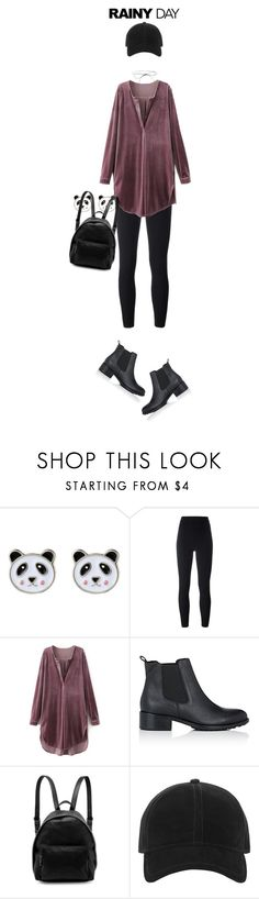 """""""Rainy Day: Chelsea Boots + Mini Backpack"""" by random11-1 ❤ liked on Polyvore featuring Accessorize, Yeezy by Kanye West, Barneys New York, STELLA McCARTNEY, rag & bone, Lilou and rainyday"""