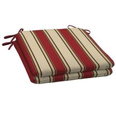 Refresh your outdoor living space with this comfortable Hampton Bay Wide Chili Stripe Outdoor Seat Pad. Outdoor Seat Pads, Patio Seat Cushions, Cushion Pads, The Hamptons, Chili, Living Spaces, Zip Around Wallet, Packing, Martial