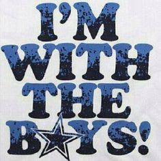 I'm with the boys....