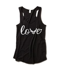 Love tank - military style. Air Force. at ease designs usmc navy army usaf uscg clothing on Etsy, $27.00
