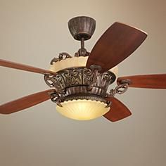 "56"" Monte Carlo Strasburg Tuscan Bronze Ceiling Fan"