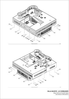 This personal project was made in honor to my favorite architect, Le Corbusier, let's continue to keep his legacy. Architecture Drawing Plan, Unique Architecture, Concept Architecture, Le Corbusier, Villa Savoye Plan, Villa Design, Behance, Architectural Presentation, Houses