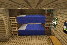 Minecraft Blue Bunkbeds