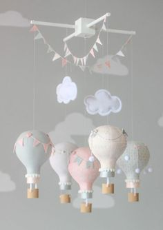 Babyzimmer Mädchen children's room design balloons decoration for the baby room girl ideas design de Baby Room Boy, Girl Nursery, Girl Room, Baby Girls, Baby Rooms, Kids Room Design, Nursery Design, Pink And Gray Nursery, Sala Grande